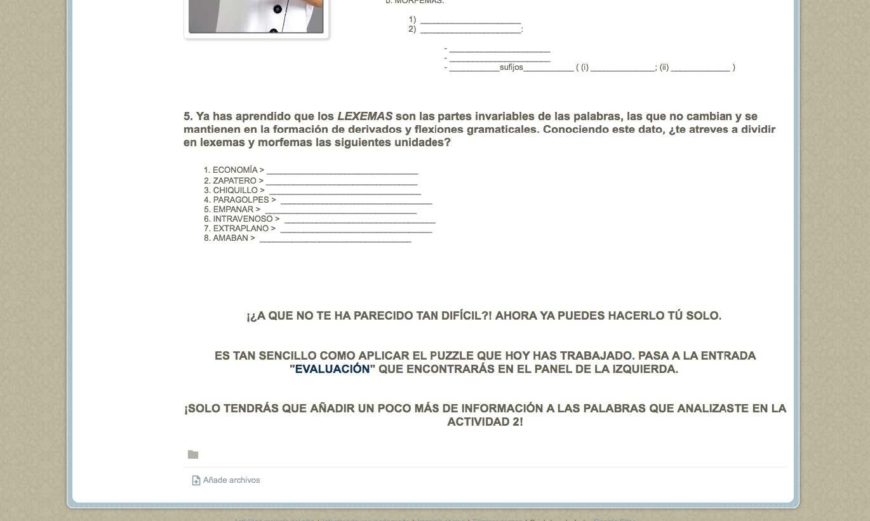 FORMACIÓN DE PALABRAS. Webquest para alumnos de 2.º Bachillerato (Lengua y Literatura), Morfología Española y Lengua para maestros (nivel de Grado), enseñanza de adultos, etc.