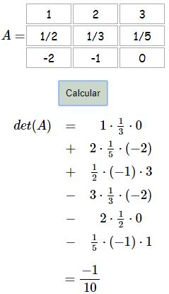 Calculadora de determinantes