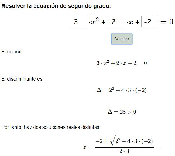 Calculadora Para Resolver Ecuaciones De Segundo Grado Didactalia Material Educativo
