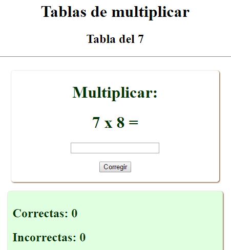 Tablas de multiplicar (interactivo)