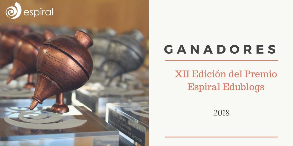 Ganadores de la XII Edicion del Premio Espiral Edublogs