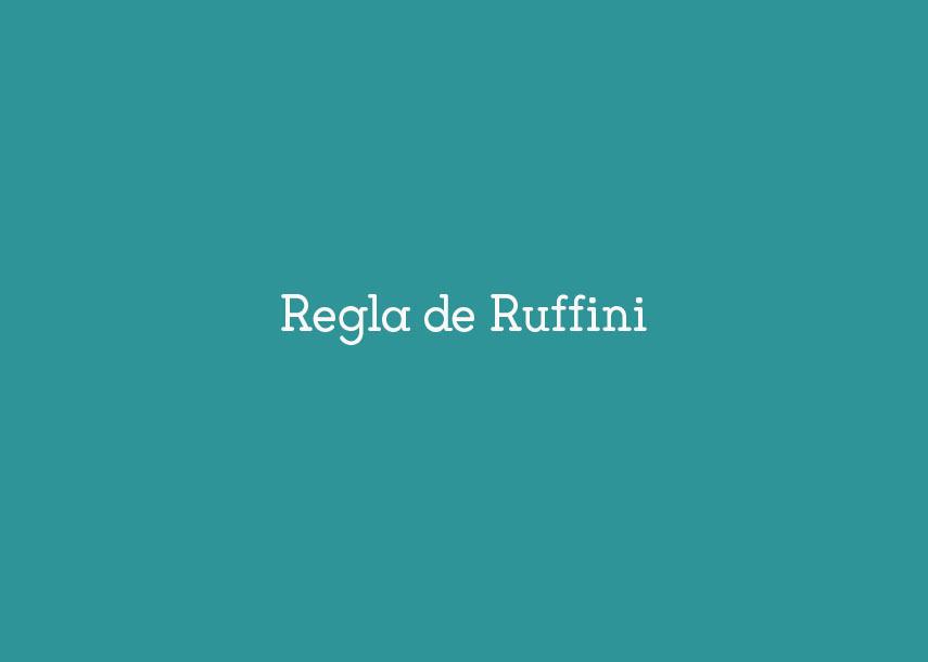 Regla de Ruffini #YSTP