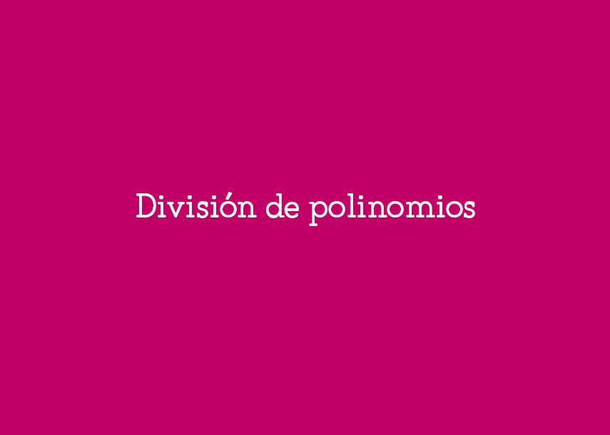 División de polinomios #YSTP