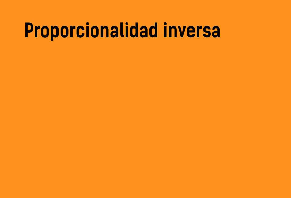 Proporcionalidad inversa #YSTP