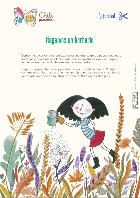 Hagamos un herbario (chileparaniños.cl)