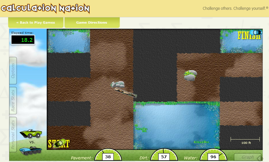 DiRT Dash: Distance, Rate and Time. Math Game (Calculation Nation)
