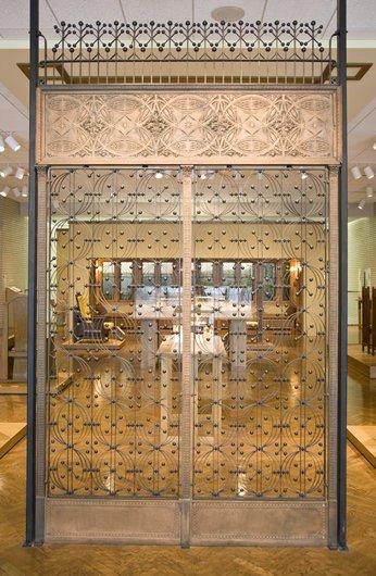 Pair of elevator grilles, frieze, and overgrille. Louis Henri Sullivan (artsmia.org)