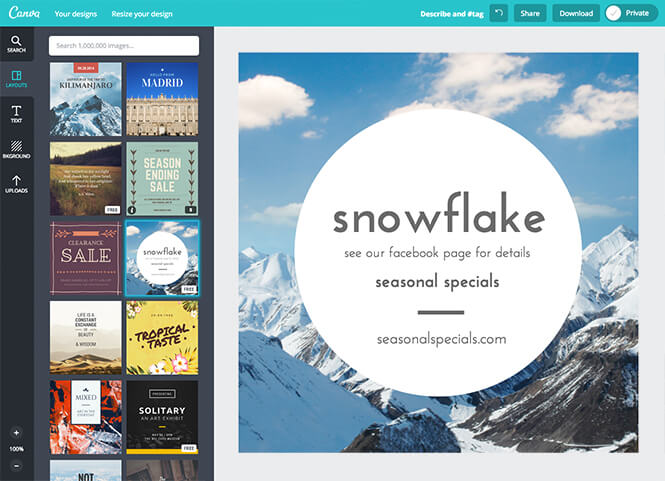 Cava, un software de diseño gráfico gratuito y online