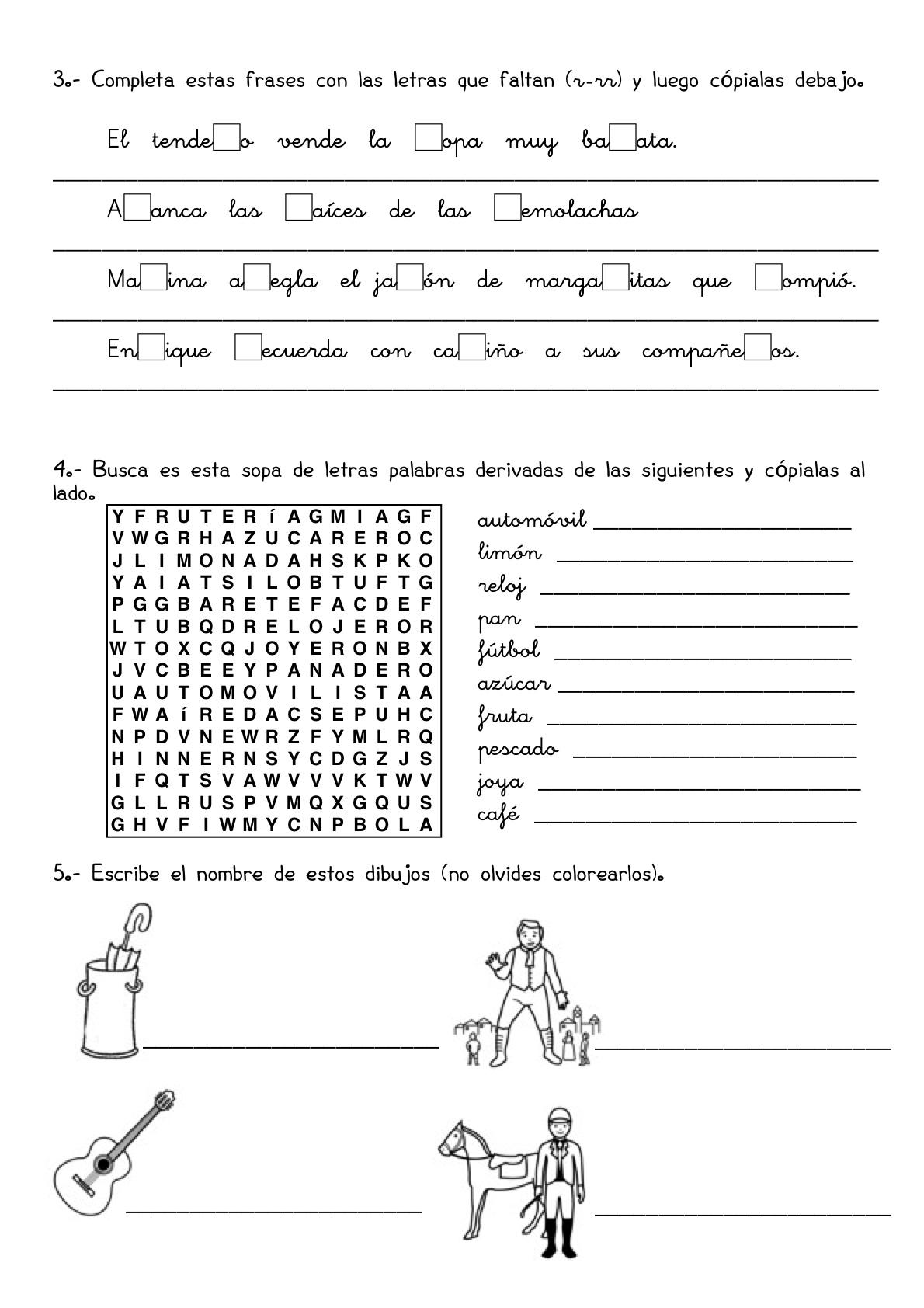 26 Fichas de repaso de Lengua y Matemáticas (3º de Primaria ...