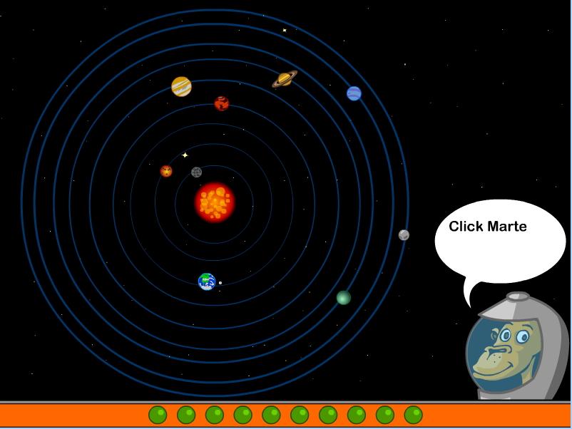 Sistema solar ciencia juego : Cyberkidz