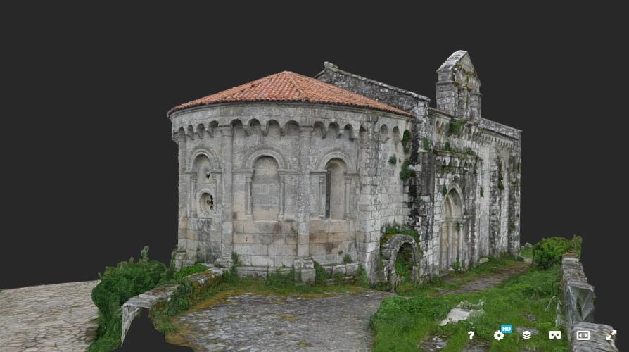 Mosteiro San Pedro de Vilanova de Dozón en 3D