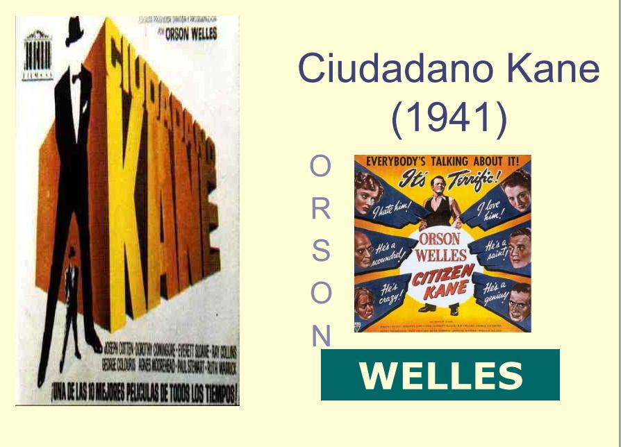 Ciudadano Kane de Orson Wells. Los medios de comunicación en clase
