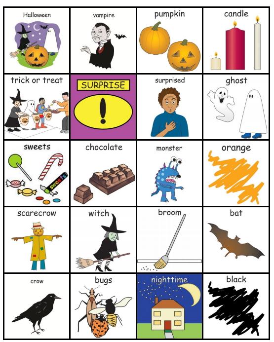 Pictogramas de Halloween. PECS Halloween (Pyramid Educational Consultants UK Ltd)