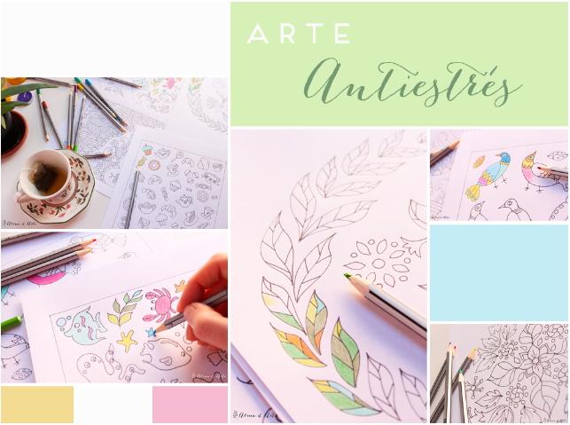 7 dibujos para colorear antiestrés (Almu Ruiz)