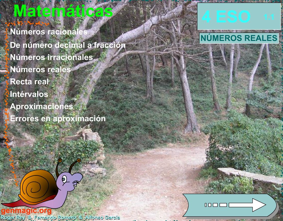 Números Reales para 4º ESO (Genmagic)