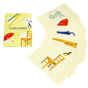 Tarjetas didácticas de objetos cotidianos.Canon Creative Park