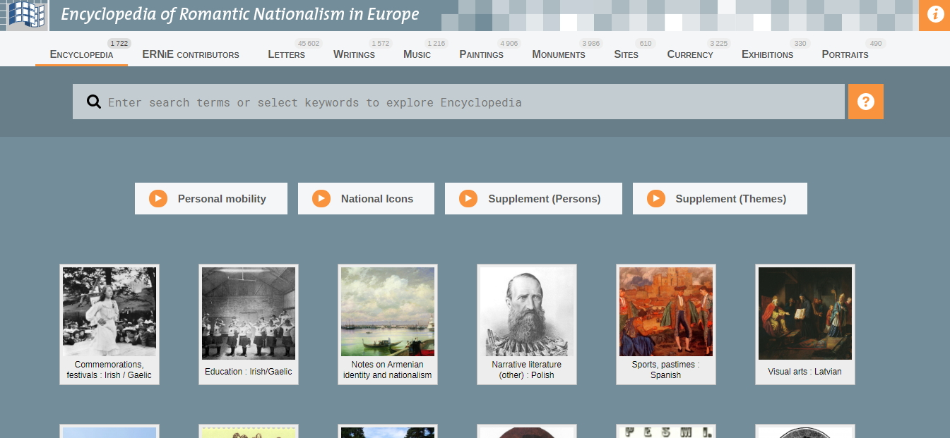 Enciclopedia del nacionalismo romántico. Encyclopedia of Romantic Nationalism in Europe (ERNiE)