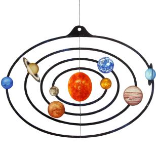 Móvil de papel del sistema solar (Canon INC)