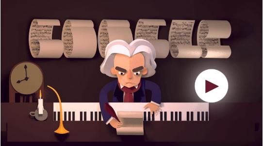 Ayida a Beethoven a componer su obra desde el 'doodle' de Google