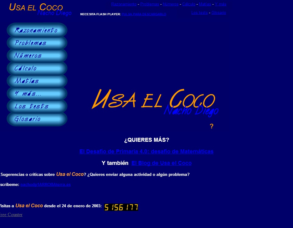 Usa el coco, Nacho Diego para 2º y 3º ciclo de primaria