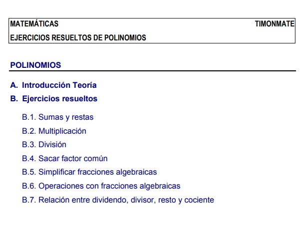 Ejercicios resueltos sobre polinomios. (Juan J. Pascual Redondo)