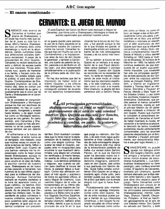 Cervantes: el juego del mundo