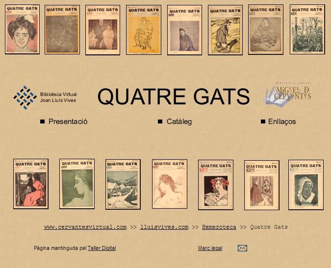 Revista Quatre Gats (Cervantes Virtual)