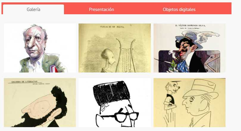 Escritores ilustrados. Memoria Chilena, Biblioteca Nacional de Chile