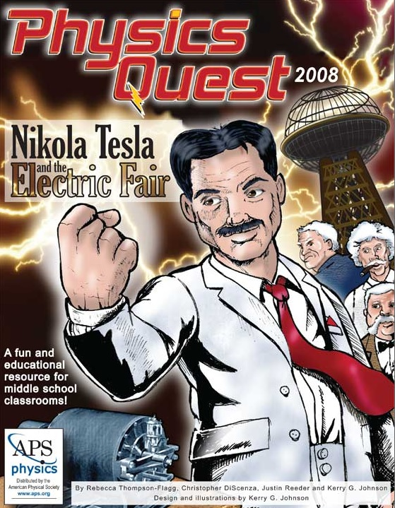 Nikola Tesla and the Electric Fair. Un cómic sobre electromagnetismo