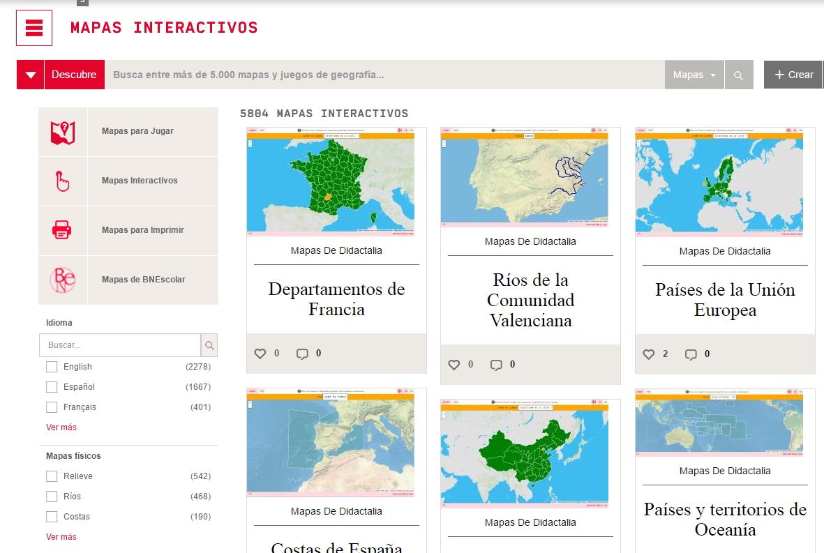 Newsletter de Didactalia: Mapas interactivos de Colombia y Chile