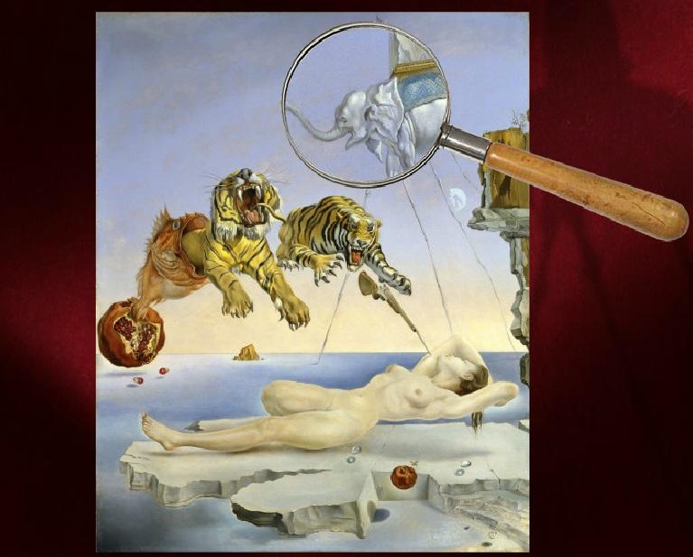 Sueño causado por... Salvador Dalí. Juegos y actividades
