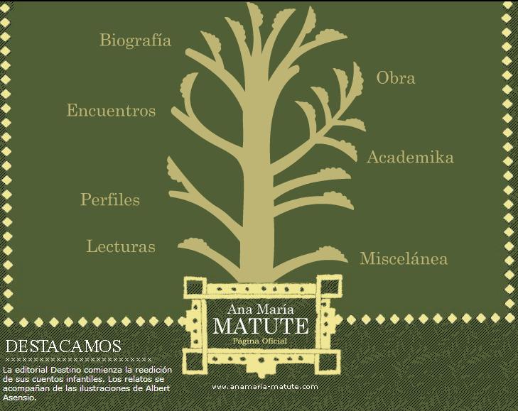La página de Ana María Matute (anamaria-matute.com)