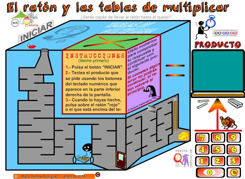 El ratón y las tablas de multiplicar (El tanque matemático)