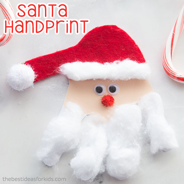 Santa Handprint Craft. The Best Ideas for Kids