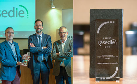Premio ASEDIE 2018 para Aragón Open Data Pool