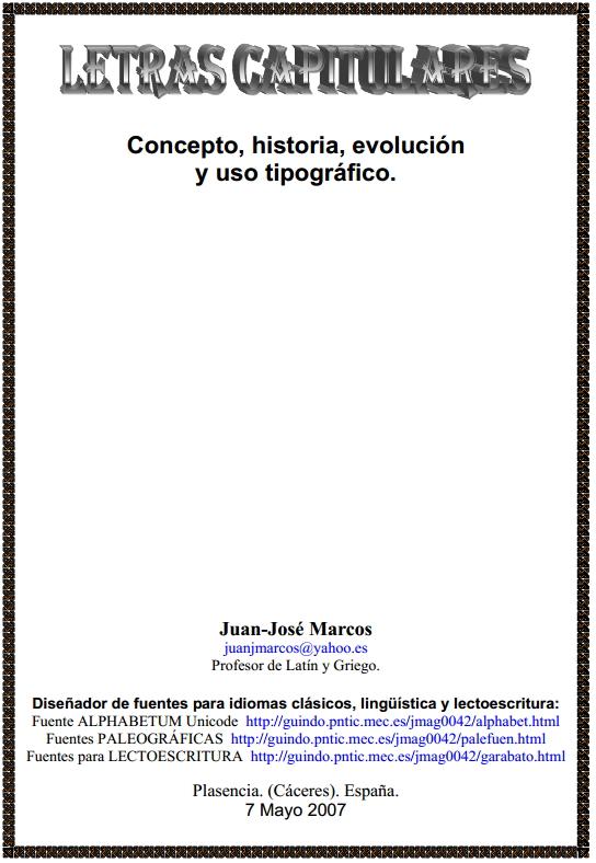 manual sobre las letras capitulares