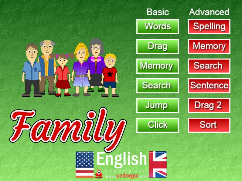 Family - Vocabulary English Primary Vedoque