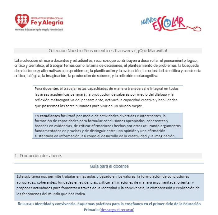 Producción de Saberes- material para el docente