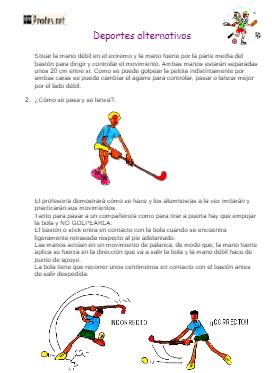 Iniciación al mini hockey: Deportes alternativos