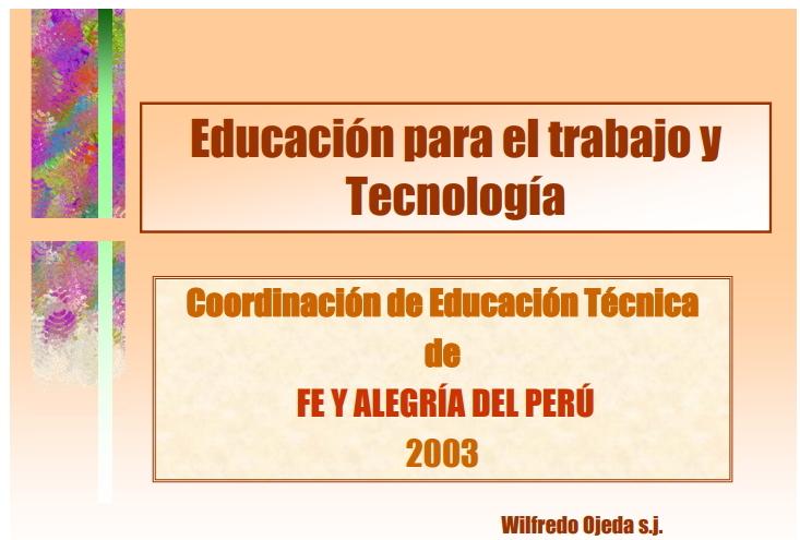 Educación para el Trabajo y Tecnología