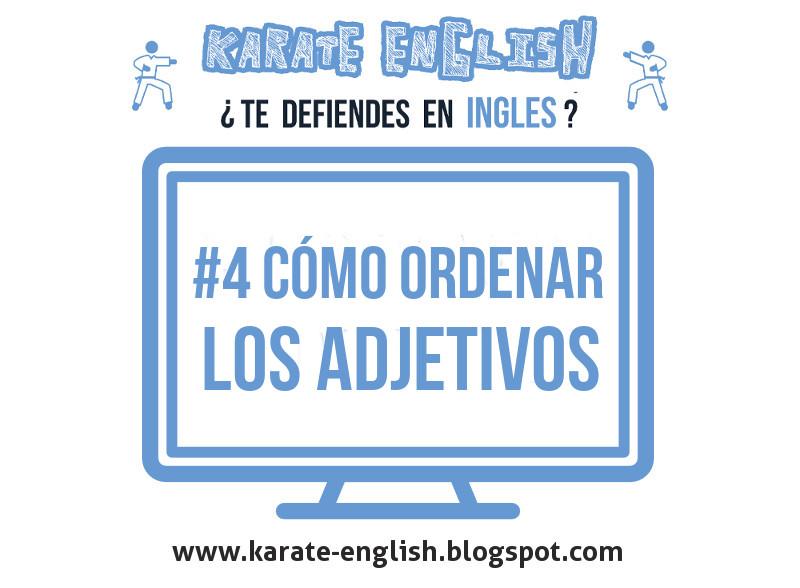 Cómo ordenar los adjetivos en inglés