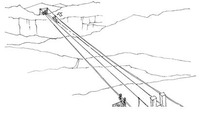 Gravity ropeways