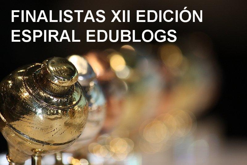 Finalistas del XII Premio Espiral Edublogs