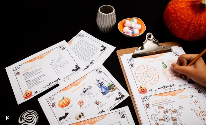 Pasatiempos de Halloween en inglés y en español
