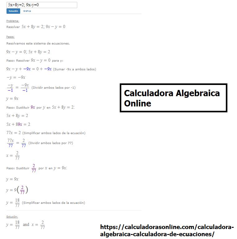 Calculadora algebraica paso a paso - Calculadora de álgebra
