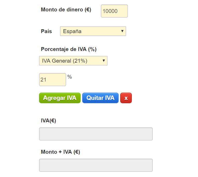 Calculadora de IVA online