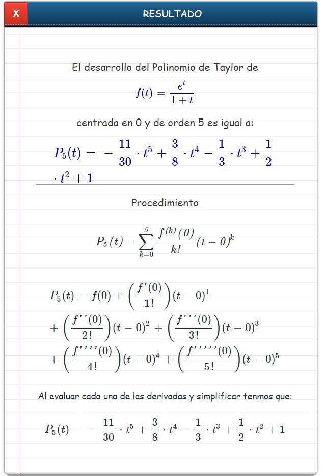 polinomio de taylor