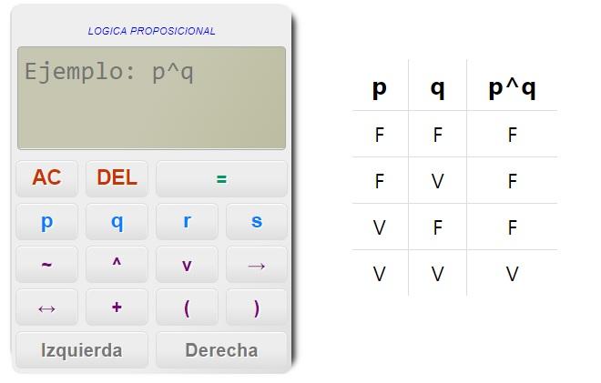 Generador de tablas de verdad online - Lógica Proposicional
