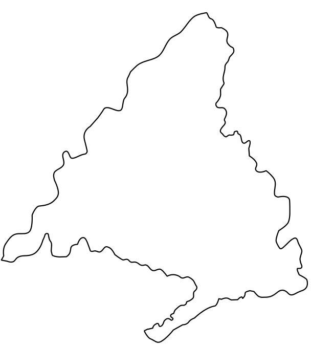 mapa político mudo de madrid