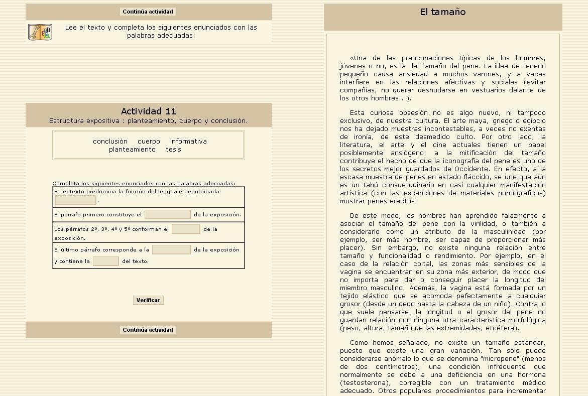 Estructura Interna De La Exposición Didactalia Material